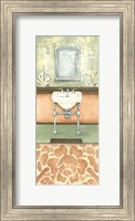 Framed Damask Bath II