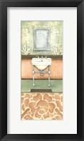 Framed Damask Bath II