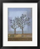 Framed Lavender Blue II