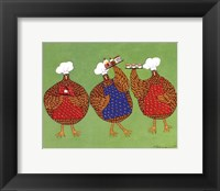 Framed Chef Hens I