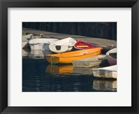 Framed Row Boats I