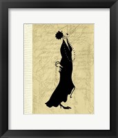 Flapper Fashion II Framed Print
