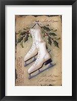 Framed Vintage Ice Skates