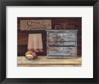 Clean Towels Framed Print
