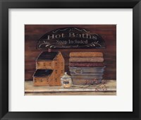 Hot Bath Framed Print