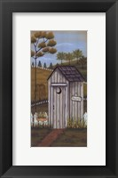 Her Outhouse Framed Print