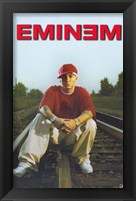 Framed Eminem On Train Tracks