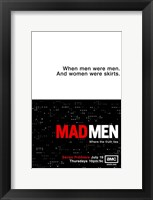 Framed Mad Men - when men were men
