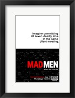 Framed Mad Men - imagine committing all seven deadly sins.