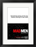 Framed Mad Men - sometimes being at the top means sinking to new lows