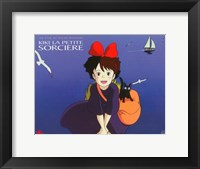 Framed Kiki's Delivery Service (French Title) Cartoon