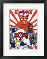 Framed Samurai Pizza Cats