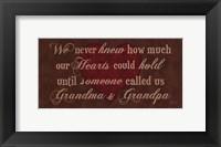 Framed Grandma & Grandpa