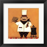 Chef with Spaghetti Framed Print