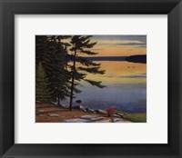 Framed Sunrise Shore