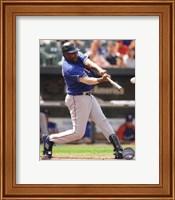 Framed Vladimir Guerrero home plate 2010