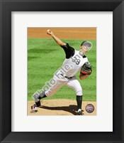 Framed Ubaldo Jimenez 2010 pitching