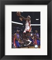 Framed LeBron James 2010-11 Action