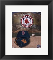 Framed Boston Red Sox Logo and Cap