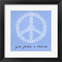 Framed Give Peace A Chance