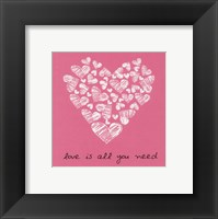 Framed Love Is All You Need - Pink