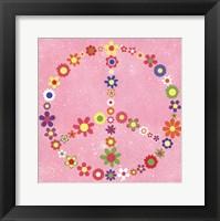 Framed Peace Flowers II