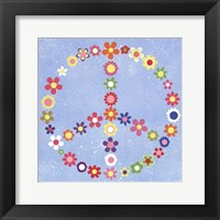 Framed Peace Flowers I