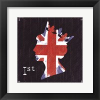 Queen Union Jack Framed Print