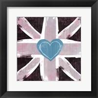 Union Jack Heart II Framed Print