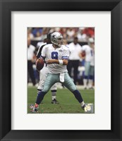 Framed Tony Romo 2010 football