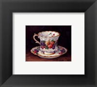 Fruit Teacup Framed Print