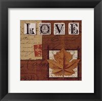 Natures Journal - Love Framed Print