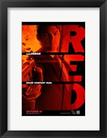 Red Karl Urban Framed Print