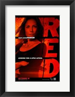 Red Mary-Louise Parker Framed Print