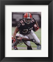 Framed Michael Turner 2010 Football Action