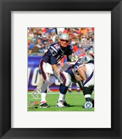Framed Tom Brady 2010 on the field
