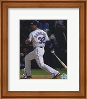 Framed Josh Hamilton Game Three of the 2010 World Series Home Run