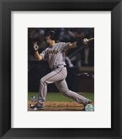 Framed Buster Posey Game Four of the 2010 World Series Home Run
