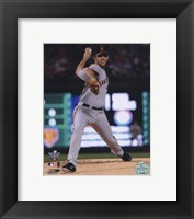Framed Madison Bumgarner Game Four of the 2010 World Series Action