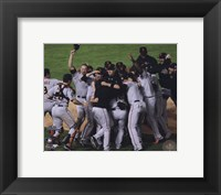 Framed San Francisco Giants Team Celebration Game Five of the 2010 World Series