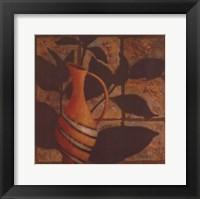 Little Striped Vase Framed Print