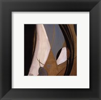 Eco-Chic with Blue I Framed Print