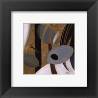 Eco-Chic with Blue II Framed Print