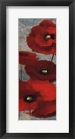 Framed Kindle's Poppies I Panel