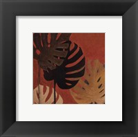 My Fashion Leaves on Red II Framed Print