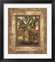 Framed West Indies Palms I