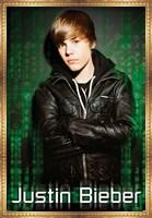 Framed Justin Bieber Green Mural