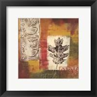 Leaf Elements III Framed Print