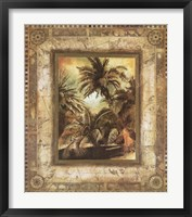 Framed West Indies Palms II