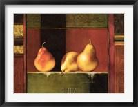 Pears, Deco IV Framed Print